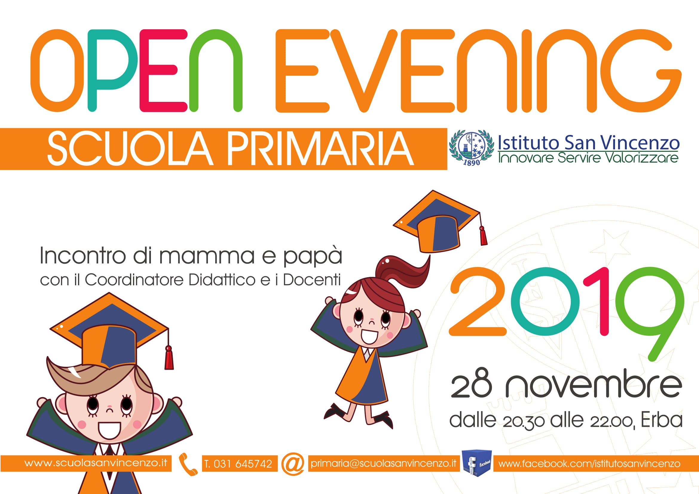 "28/11/2019 – Open Evening ""Istituto San Vincenzo"""